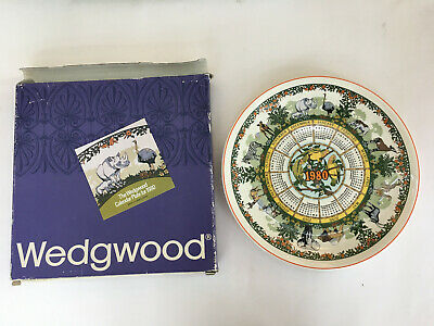 1980 Wedgwood Calendar Plate 10th Series, Safari Motif,   Birthday, Anniversary • 5.99£