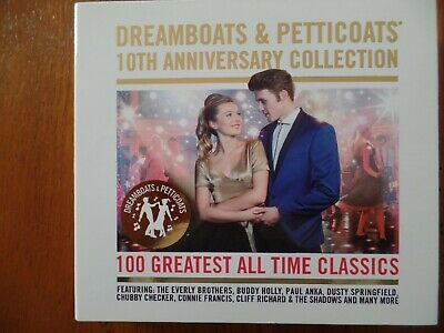 Dreamboats & Petticoats 10th Anniversary Collection.  4 CD 100 Greatest Classics • 4.99£