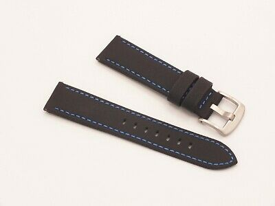Black Waterproof Sailcloth Quick Release Padded Watch Strap 22mm  • 3.99£