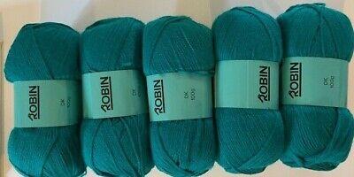 ROBIN DOUBLE KNITTING  DK WOOL 500g Pack - Seagreen Shade 0071 100% Acrylic • 11.49£