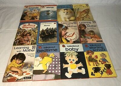 Lot Of 12 1970's Ladybird Books Children Picture Learning With Mother Talkabout • 17.85£