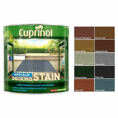 £19.49 • Buy Cuprinol 2.5L Anti Slip Decking Stain Various Colours Wood Paint Protection