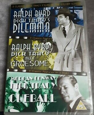 New/sealed - Dick Tracy Movies X 3 DVD 2004 - 1940s Films • 3.50£