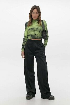 Urban Outfitters Iets Frans Black Puddle Track Pants Joggers Size Small • 25£