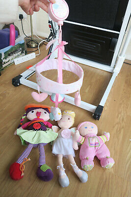 Baby Girls Hanging Toy Dolls Bundle Mamas And Papas, Mothercare, Fisher Price • 14.95£