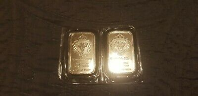 2x 1oz Scottsdale .999 Silver Bullion Ingot Bar. • 56£