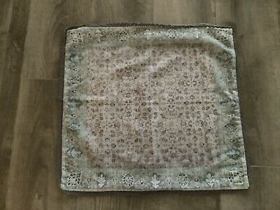 NEXT Cushion Cover, Patterned With Lace Trim, Grey, Greens, Purples • 0.99£