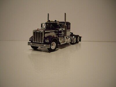 $ CDN83.54 • Buy Dcp First Gear 1/64 Purple And White Kenworth W900a With 36'' Flat Top Sleeper