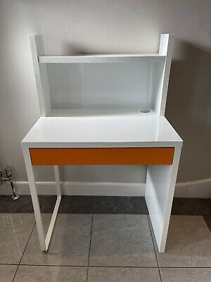IKEA Micke Computer Desk Work Home Desk White. Ready Assembled • 7£