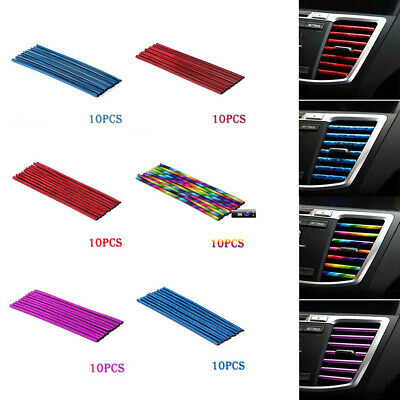 AU6.65 • Buy 10Pcs Car Accessories Colorful Air Conditioner Air Outlet Decor Strip Universal