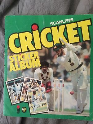 AU75 • Buy Scanlens 1982 Cricket Sticker Album And 140 Stickers Signed On Back Used