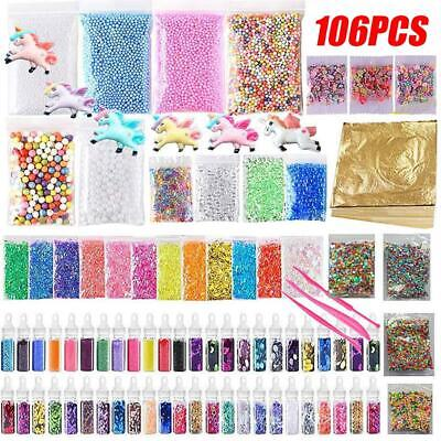 AU28.95 • Buy 106 Pack Making Kits Supplies For Slime DIY Handmade Color Foam Ball Granules