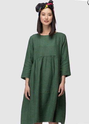 AU78.17 • Buy Gorman Size 14 Growers Green Linen Dress PreOwned Condition