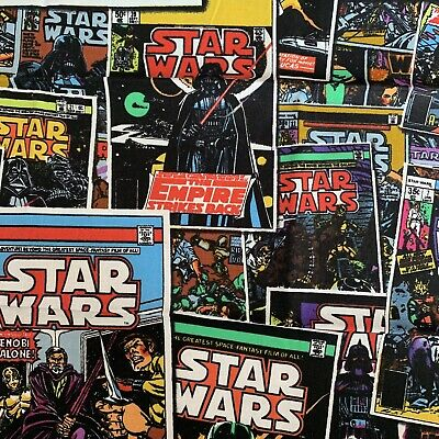 £4.50 • Buy Fq Star Wars Comic Book Covers Space Jedi Darth Vader Fabric Character