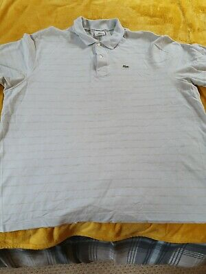 Mens LACOSTE SIZE 10 Striped Polo Shirt • 8.99£