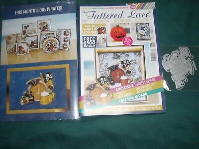Tattered Lace Magazine Issue 71 Brand New With Pirates Die And Papers • 7£