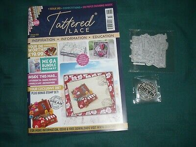 Tattered Lace Magazine Issue 80-USED-with Holiday Suitcase Die-Stamp-NO PAPERS • 3£