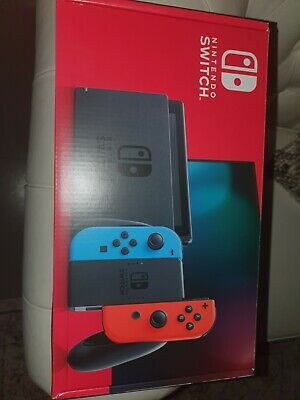 AU395 • Buy Nintendo Switch HAC-001(-01) Handheld Console - 32GB - Neon Blue/Red Unopened