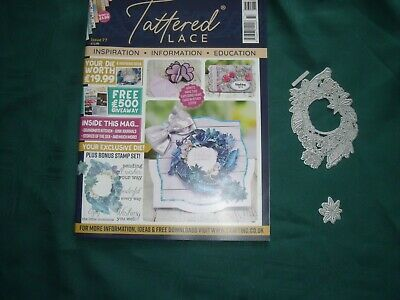 Tattered Lace Magazine Issue 77-USED-with Blue Orchids Dies- NO STAMPS-NO PAPERS • 3£