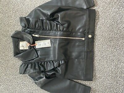 River Island Girls Black Leather Jacket 18-24months BNWT • 15£