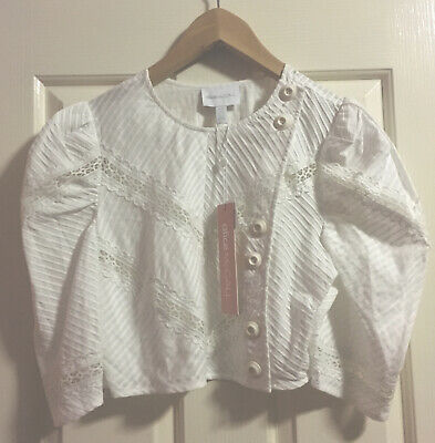 AU105 • Buy Alice McCall White  Cropped Top Size 8 NEW WITH TAGS