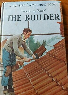 Ladybird Books People At Work Series 606b Builder, Fisherman And Fireman Vintage • 1.50£