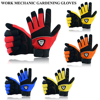 £5.99 • Buy Safety Work Gloves Heavy Duty Hand Protection Mechanic Gardening Builders Cut UK