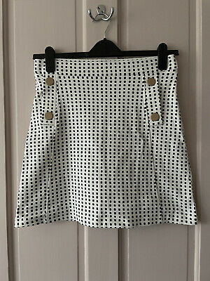 Saint And Sofia A Line White Polka Dot Skirt Size 14 Brand New • 0.99£