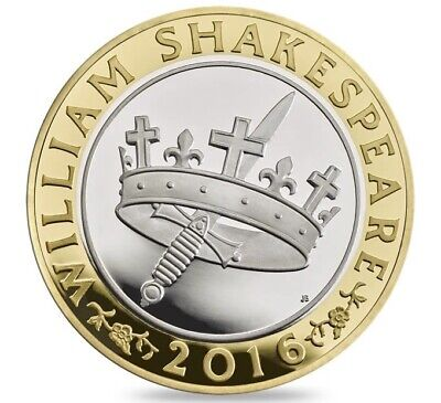 2016 £2 Coin William Shakespeare Histories Two Pounds Uncirculated • 4.99£