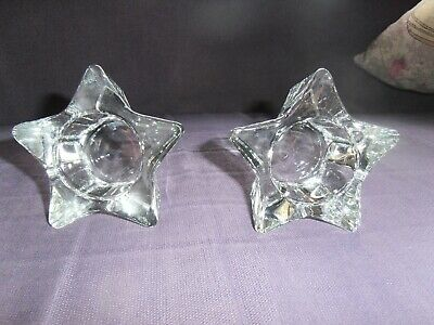 2 IKEA Glass Stars - Can Be Used As Tea Light Holders Or As Decorative Items. • 9.99£