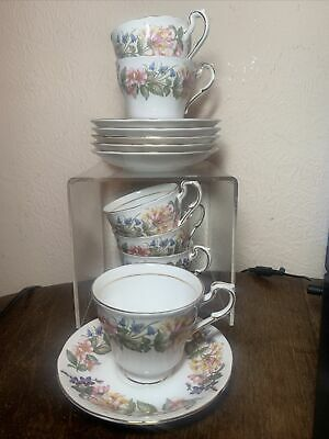 6 Paragon Country Lane Fine Bone China Tea Cups And Saucers  • 10£