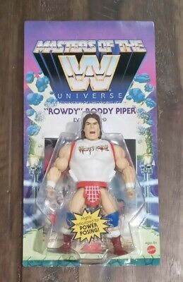 $33.99 • Buy WWE MASTERS OF THE UNIVERSE Unpunched Card. Wave 5 Series Rowdy Roddy Piper MOTU