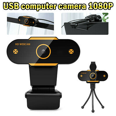 AU24.86 • Buy HD Gaming Webcam 1080P With Microphone USB 2.0 60 Fps PC Streaming Web Camera A+