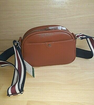 Ladies Bag JOULES BNWT Tan Brown Small Camera Cross Body Pu Faux Leather TRENT • 29.99£