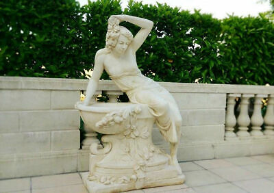 Giant Greek Statue Lady Reclining On Well With Flower Detail 140cm 380kgs • 699£