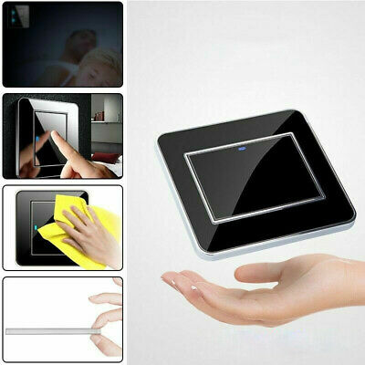 1/2/3 Gang LED Indicator Light Switch Wall Crystal Mirror Push Button Panel 16A • 9.89£