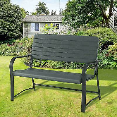 £119.99 • Buy Outsunny 2 Seater Garden Bench Outdoor Porch Furniture Patio Love Seat Chair