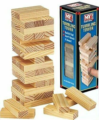 £5.99 • Buy My Traditional Games Tumbling Tower 48 Wooden Pieces