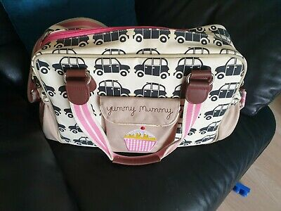 Pink Lining Yummy Mummy Cars Changing Bag Hardly Used Excellent  • 14.99£
