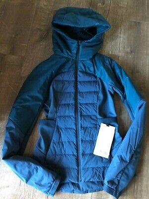 $ CDN298 • Buy Lululemon Down For It All Jacket Size 6 Night Diver