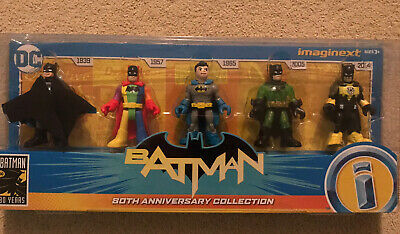 Imaginext Fisher Price DC Batman 80th Anniversary Collection Figure Set (NEW) • 28.99£