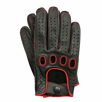 £10.99 • Buy Genuine Soft Leather Reverse Stitched Full-Finger Driving Gloves Fashion Classic