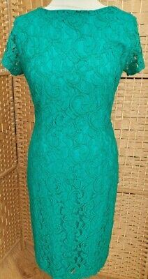 £14 • Buy Roman Size 12 Emerald Green Lace Dress Pencil Style Special Occasion Wedding...