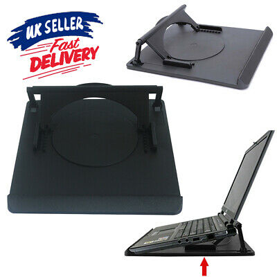 360 Swivel Base Cooling Holder Table Tray With Heat Dispersion Laptop Stand ACB# • 4.99£