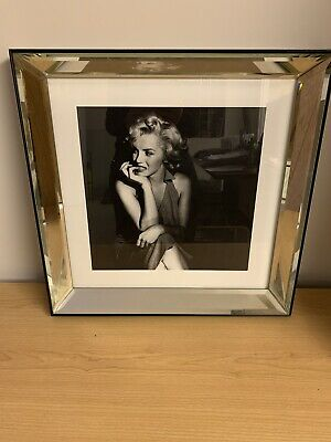 Marilyn Monroe Framed Picture, Mirrored Frame, 46 Cm X 46 Cm Cash On Collection • 15£