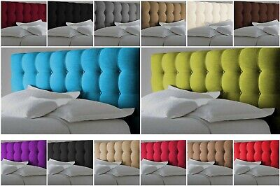 £77.99 • Buy Top Quality Butt Cube Bed Headboard In Chenille Fabric S D K SK 26  30  Height