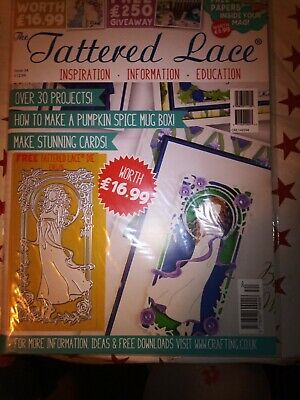 Tattered Lace Magazine Issue 34 - Free Die Evelyn Brand New • 5.99£