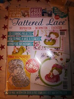 Tattered Lace Magazine Issue 39 - Free Die Esme And Button Brand New • 5.99£