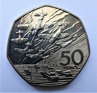 1994 50P COIN RARE D DAY LANDING UNCIRCULATED FIFTY PENCE BATTLE OF BRITAIN C • 2.95£