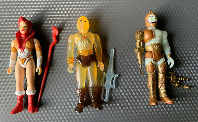 $20.99 • Buy Super7 Masters Of The Universe MOTU Chase Lot He-Man Clear Trapjaw Glow + Teela